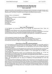 Geschäftsordnung des Studentenrates der Technischen ... - StuRa