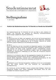Stellungnahme - StuRa - Technische Universität Chemnitz