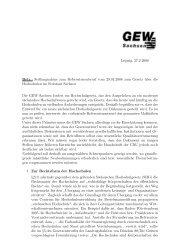 Stellungnahme zur SächsHG-Novelle von der GEW - StuRa