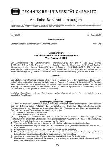 Grundordnung des Studentenwerks - StuRa - Technische ...