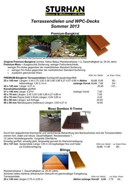 Terrassendielen 2013 - Sturhan Holzhandel