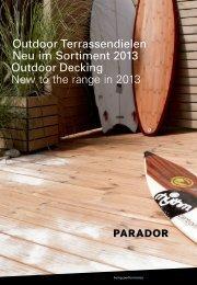 Outdoor Terrassendielen Neu im Sortiment 2013 Outdoor Decking ...