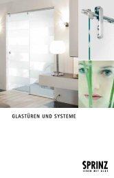 Glastüren und systeme