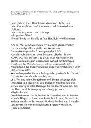 Ansprache des Ortsvorstehers Ludwig-Wilhelm Heidt anlässlich des ...