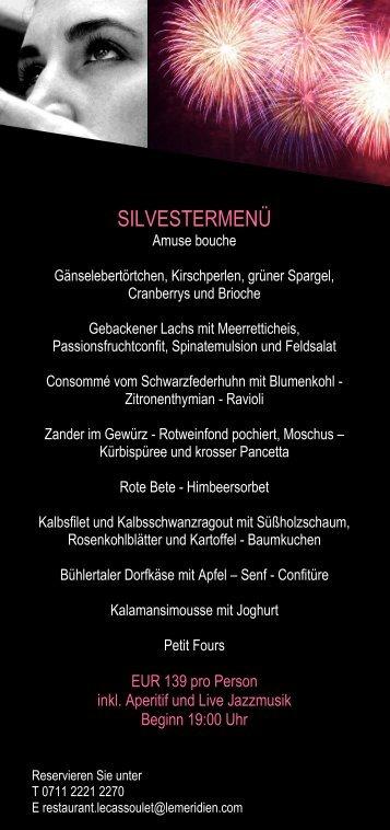 Silvestermenüpackage (PDF) - Stuttgart Locations
