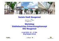 Soziale Stadt Neugereut Workshop Städtebauliches ...