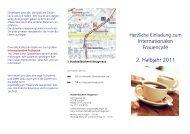 Frauencafe-Programm der Stadtteilbücherei Neugereut