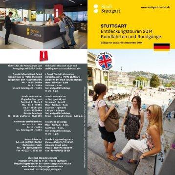 STUTTGART Entdeckungstouren 2014 ... - Stuttgart Tourist