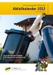 Abfallkalender 2012 - Hartmannsdorf