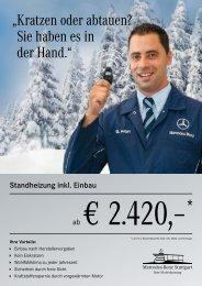 Standheizung - Mercedes-Benz Niederlassung Stuttgart