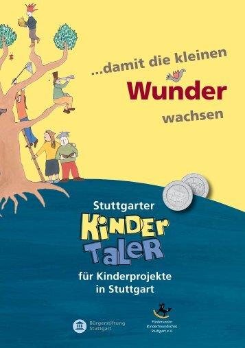 """Infobroschüre """"Stuttgarter Kindertaler"""" (.pdf)"""