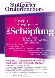 Plakat / Handzettel zum Konzert (PDF) - Stuttgarter Oratorienchor