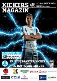 01 Kickers-Magazin FC Rot-Weiß Erfurt (pdf mit ... - Stuttgarter Kickers