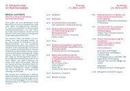 Tagungsprogramm 2009 - Stuttgarter Tage