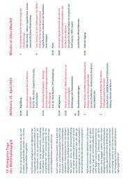 Tagungsprogramm 2010 - Stuttgarter Tage