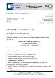 Studierendenvertetung - Studierendenvertretung - Universität ...