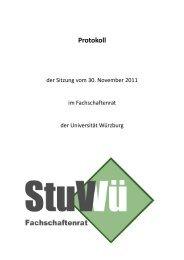 30.11.2011 - Studierendenvertretung - Universität Würzburg