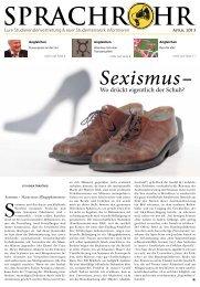 Sexismus – - Studierendenvertretung - Universität Würzburg