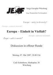 Europa – Einheit in Vielfalt?