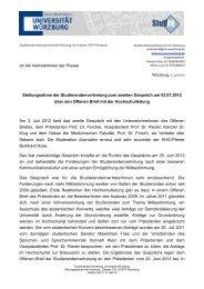 findet ihr die Pressemitteilung der Studierenden - Fibio.de