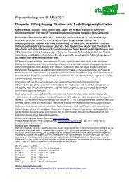 Doppelter Abiturjahrgang: Studien- und ... - Stuzubi