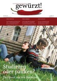 Studieren oder pauken? - Studierendenvertretung - Universität ...