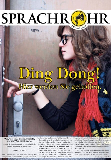 "Januar 2014: ""Ding Dong! Hier werden Sie geholfen."""