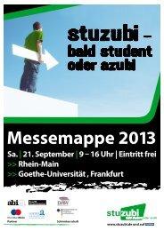 Messemappe 2013 - Stuzubi.de