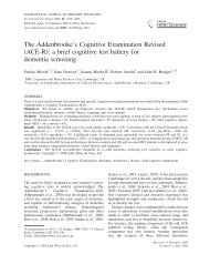 The Addenbrooke's Cognitive Examination Revised (ACE-R): a brief ...