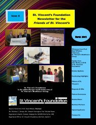 Friends of St. Vincent's Newsletter March 2012