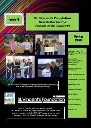 Friends of St. Vincent's Newsletter Spring 2013