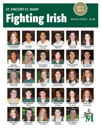fighting irish varsity boys basketball team - St. Vincent-St. Mary High ...