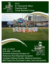 Baseball - St. Vincent-St. Mary High School