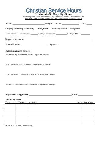 St Mary Service Hour Form If Baltimore Acupuncture Columbia