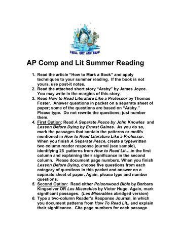 summer reading questions how to read like