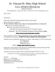 stvm 2013 fall sports program - St. Vincent-St. Mary High School