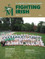 Fall 2012 - St. Vincent-St. Mary High School