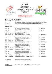 6. GeKu Turnerinnen Kategorien 1 – 3 Samstag, 27 ... - STV Roggliswil