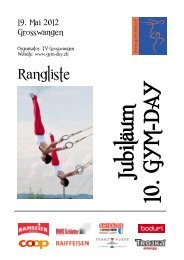 Rangliste Gym-Day 2012 - STV Roggliswil