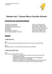 Statuten des 1. Hansen Marco Fanclubs Schweiz - STV Willisau