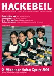 2. Mindener Hafen-Sprint 2004 - Bessel-Ruder-Club eV Minden