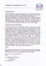 Installateur-Rundschreiben 21.09.2010 - Stadtwerke Winsen