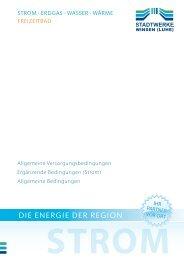 Allgemeine Versorgungsbedingungen Strom inkl. Erg. Bedingungen