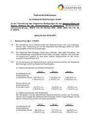 Ergänzende Bedingungen der Stadtwerke Bad Kissingen GmbH zu ...