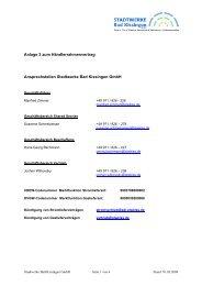 Anlage 3 zum Händlerrahmenvertrag Ansprechstellen Stadtwerke ...