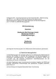 EDI-Vereinbarung Zwischen Stadtwerke Bad Kissingen GmbH ...