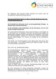 Lesen Sie mehr dazu –hier - Stadtwerke Bad Kissingen