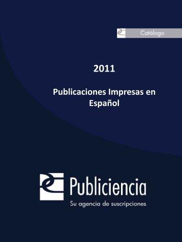 Publicaciones Impresas en Español