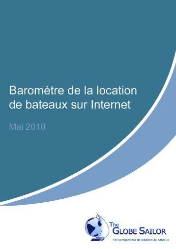 Baromètre de la location de bateaux sur Internet