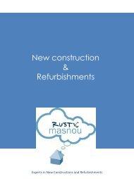 New construction & Refurbishments